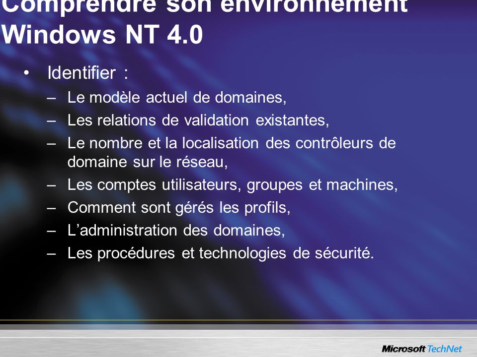 Comprendre son environnement Windows NT 4.0