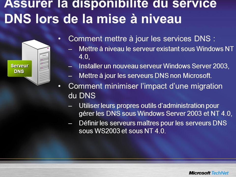 Assurer la disponibilité du service DNS lors de la mise à niveau