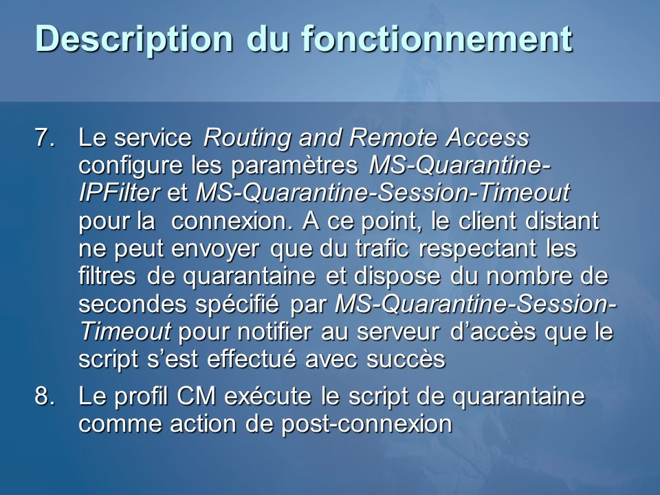 Description du fonctionnement