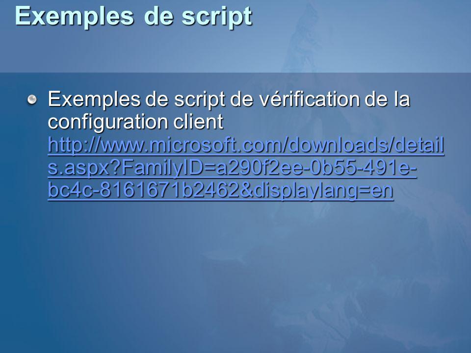 Exemples de script