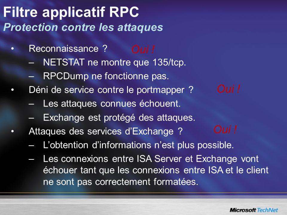 Filtre applicatif RPC Protection contre les attaques