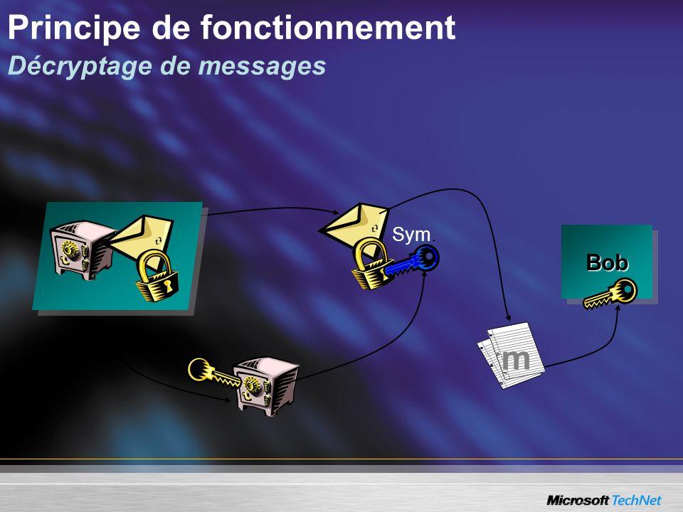 Principe de fonctionnement Décryptage de messages