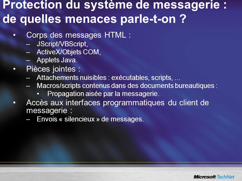 Protection du système de messagerie : de quelles menaces parle-t-on