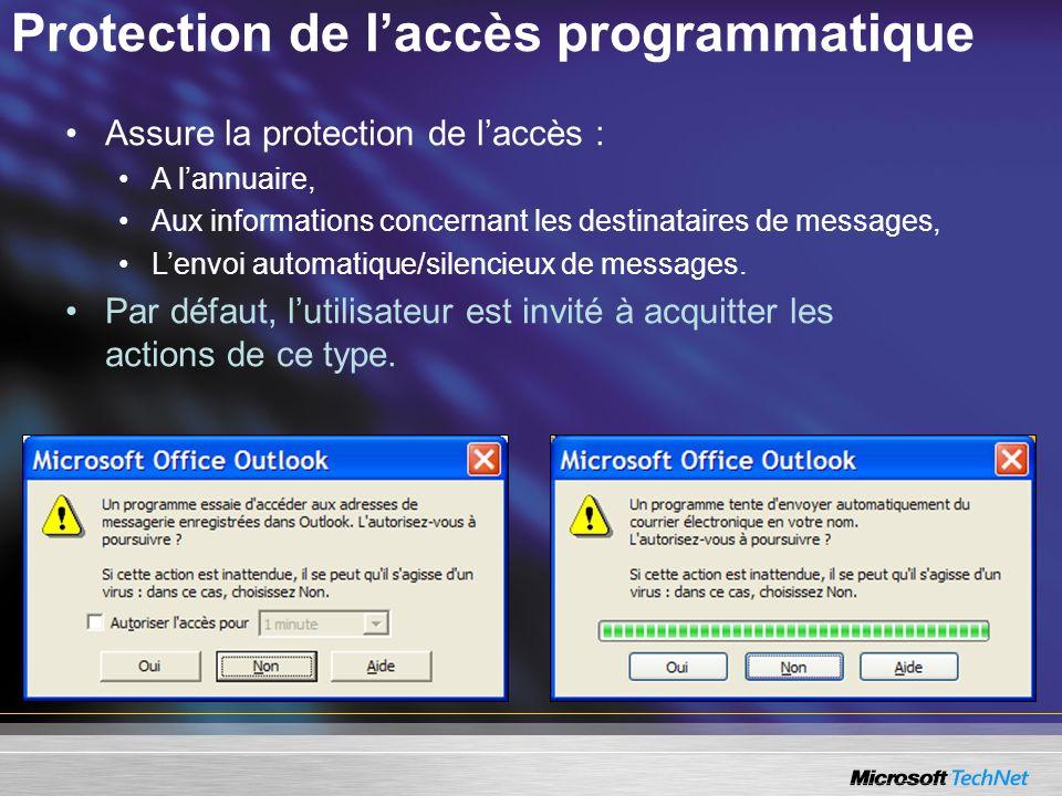 Protection de l'accès programmatique