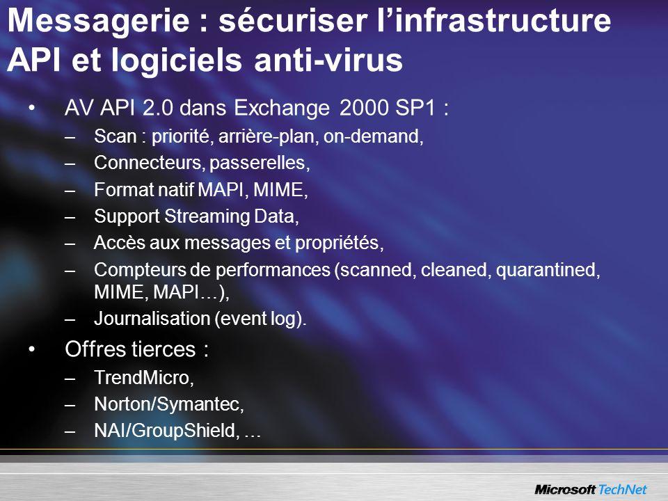 Messagerie : sécuriser l'infrastructure API et logiciels anti-virus