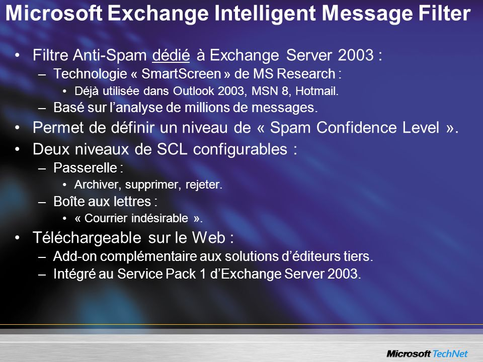 Microsoft Exchange Intelligent Message Filter