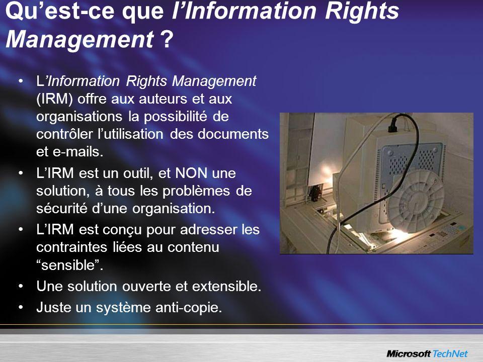 Qu'est-ce que l'Information Rights Management