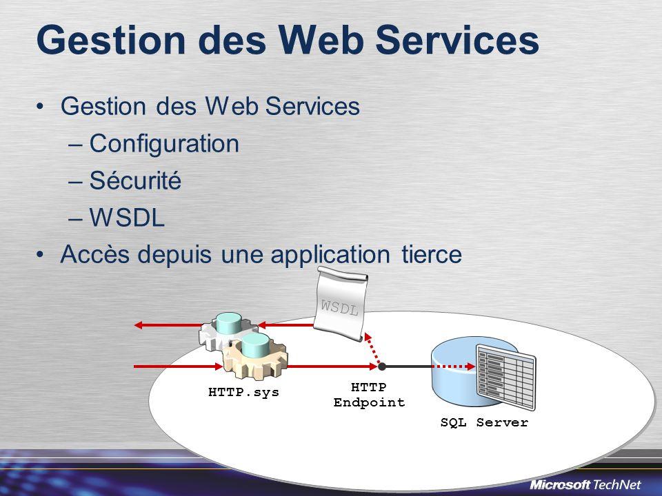 Gestion des Web Services