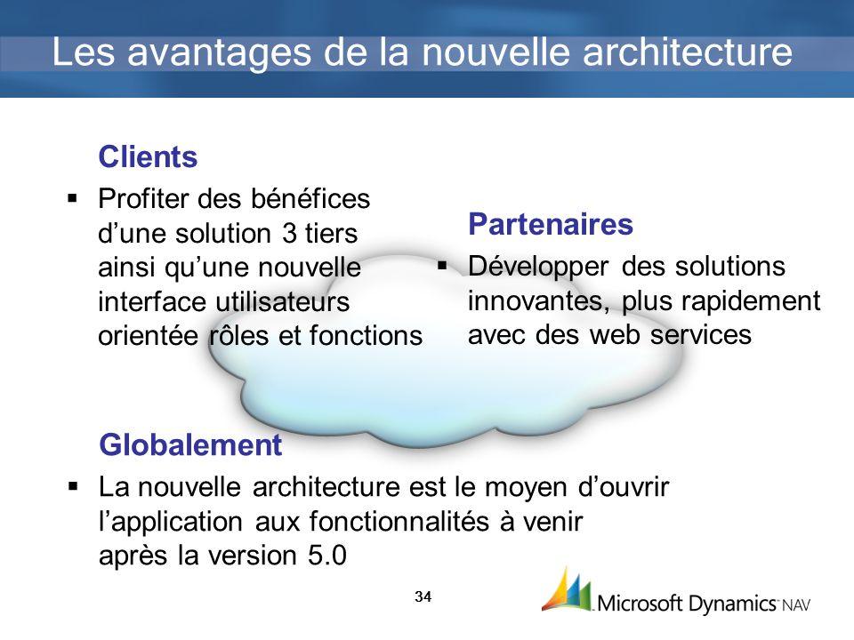 Les avantages de la nouvelle architecture