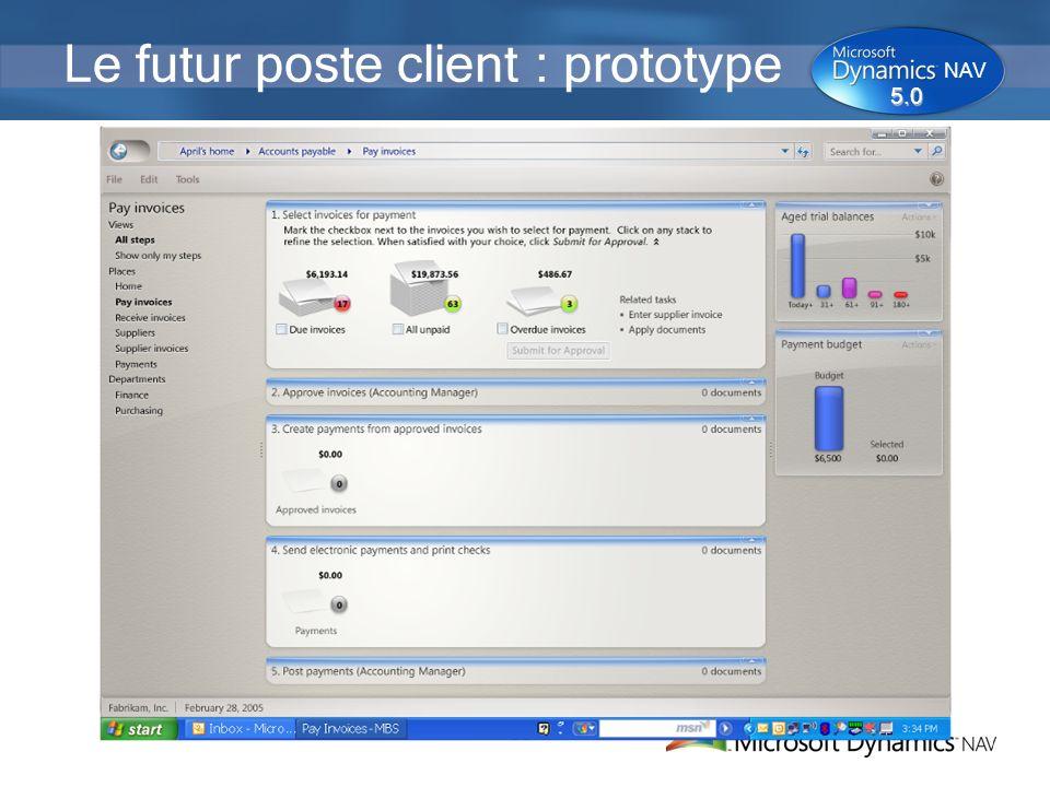 Le futur poste client : prototype