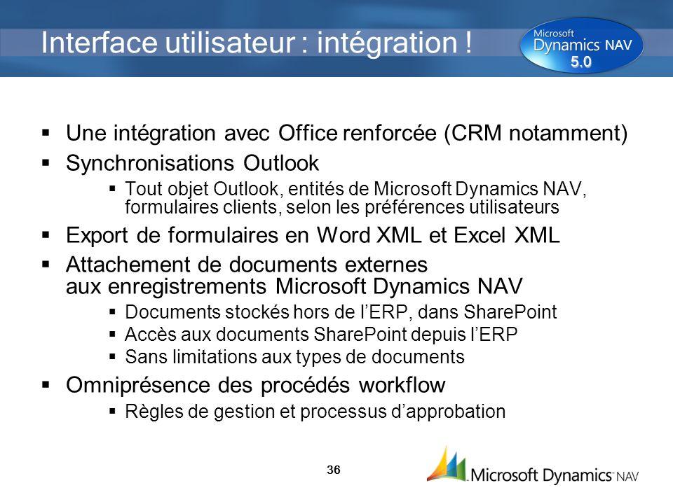 Interface utilisateur : intégration !