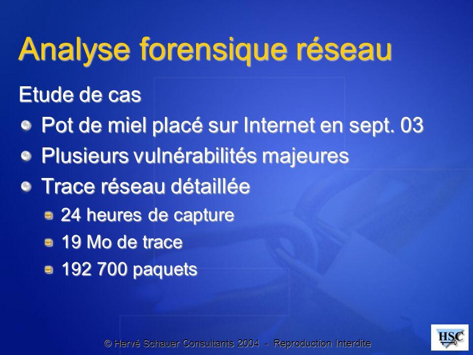 Analyse forensique réseau