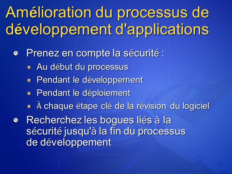 Amélioration du processus de développement d applications