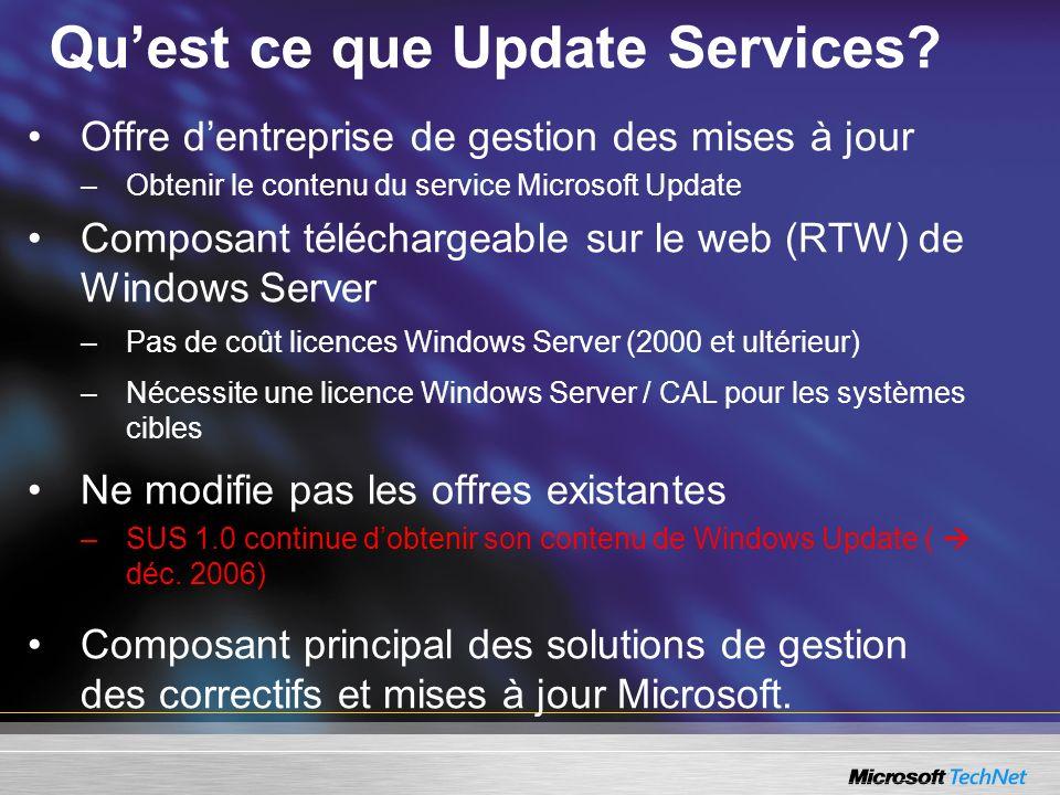 Qu'est ce que Update Services