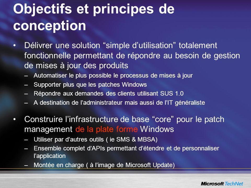 Objectifs et principes de conception