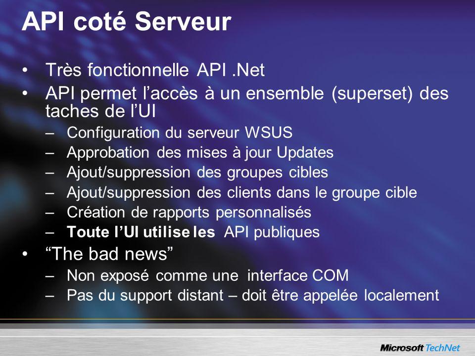 API coté Serveur Très fonctionnelle API .Net