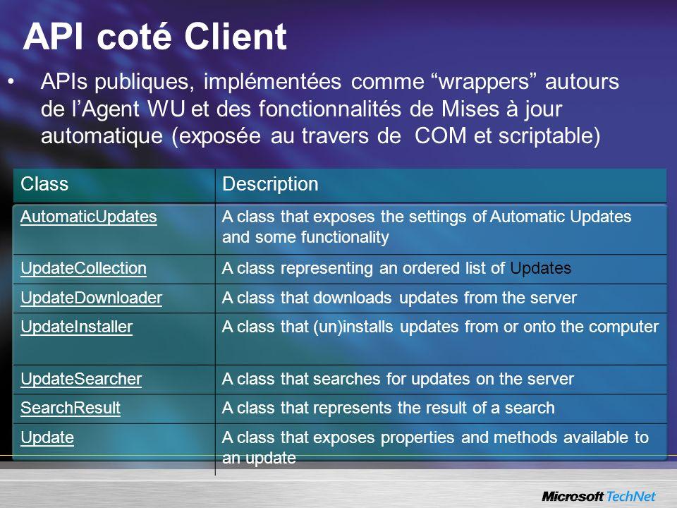 API coté Client