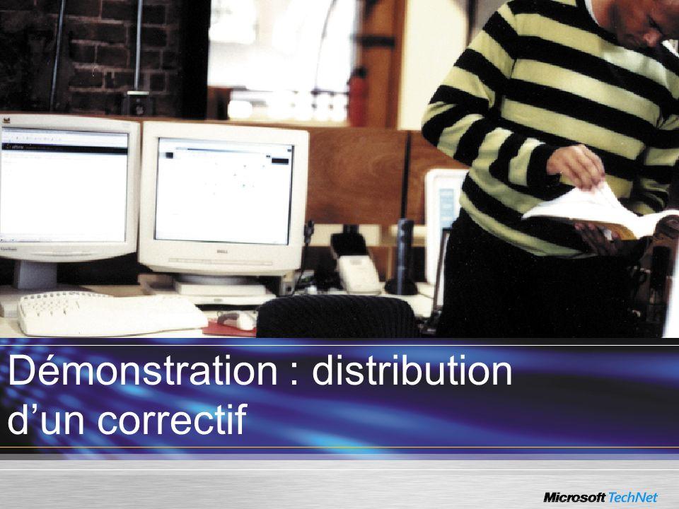 Démonstration : distribution d'un correctif