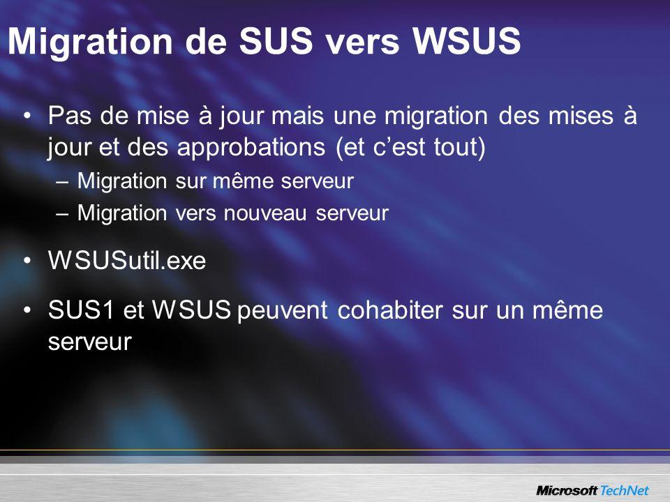 Migration de SUS vers WSUS