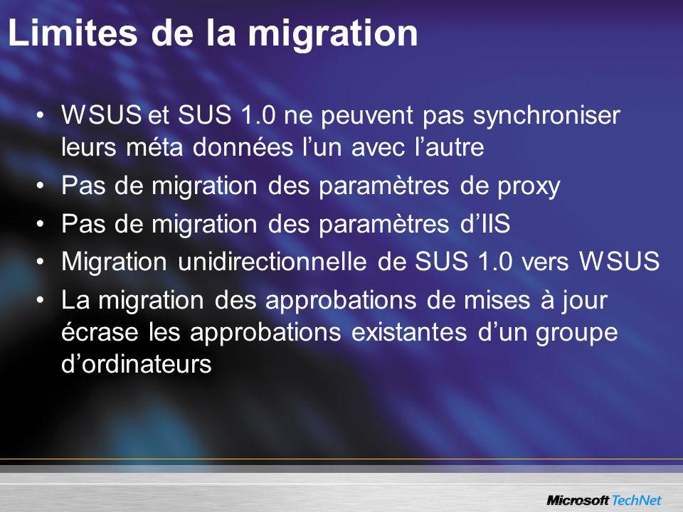 Limites de la migration