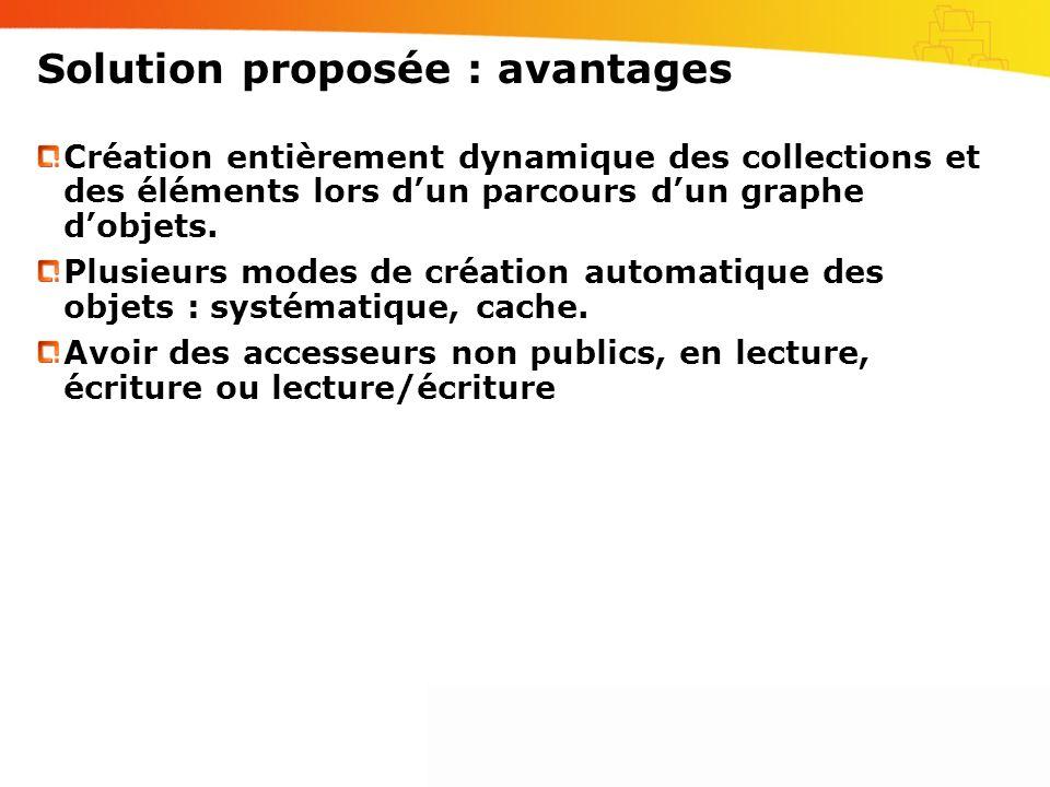 Solution proposée : avantages