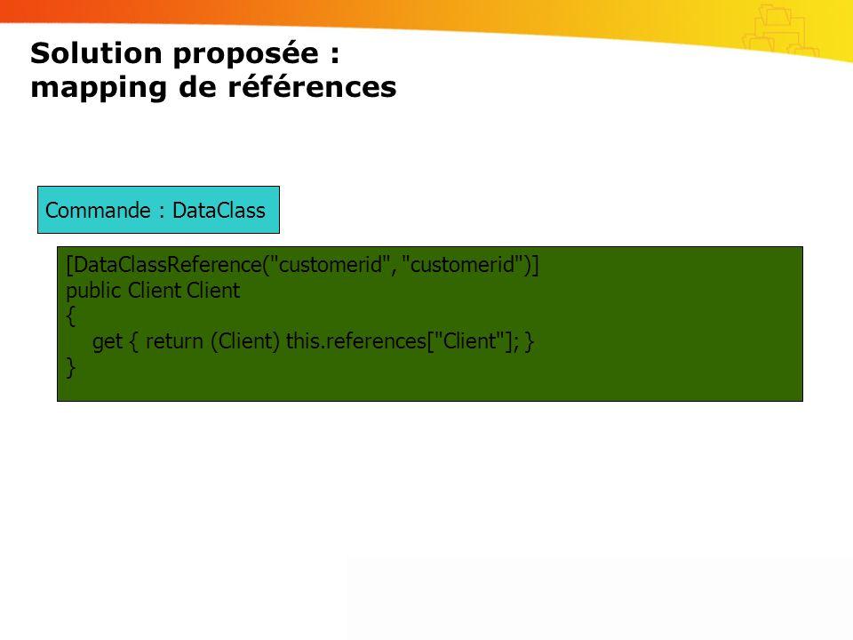 Solution proposée : mapping de références