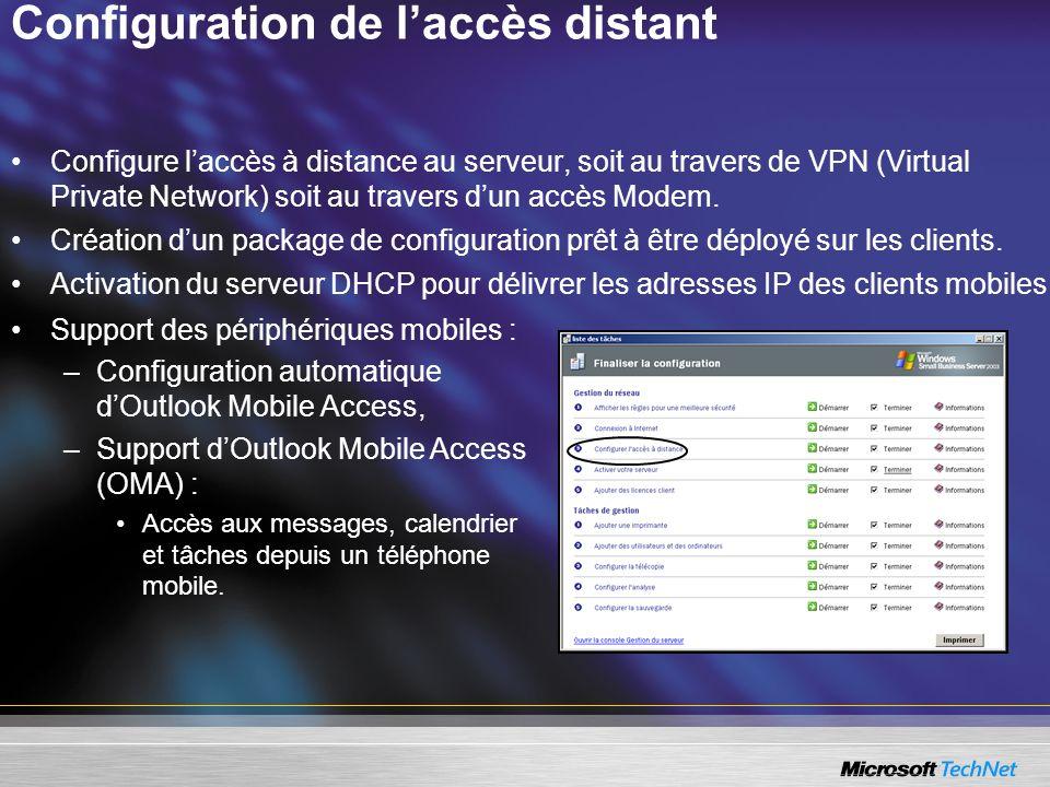 Configuration de l'accès distant
