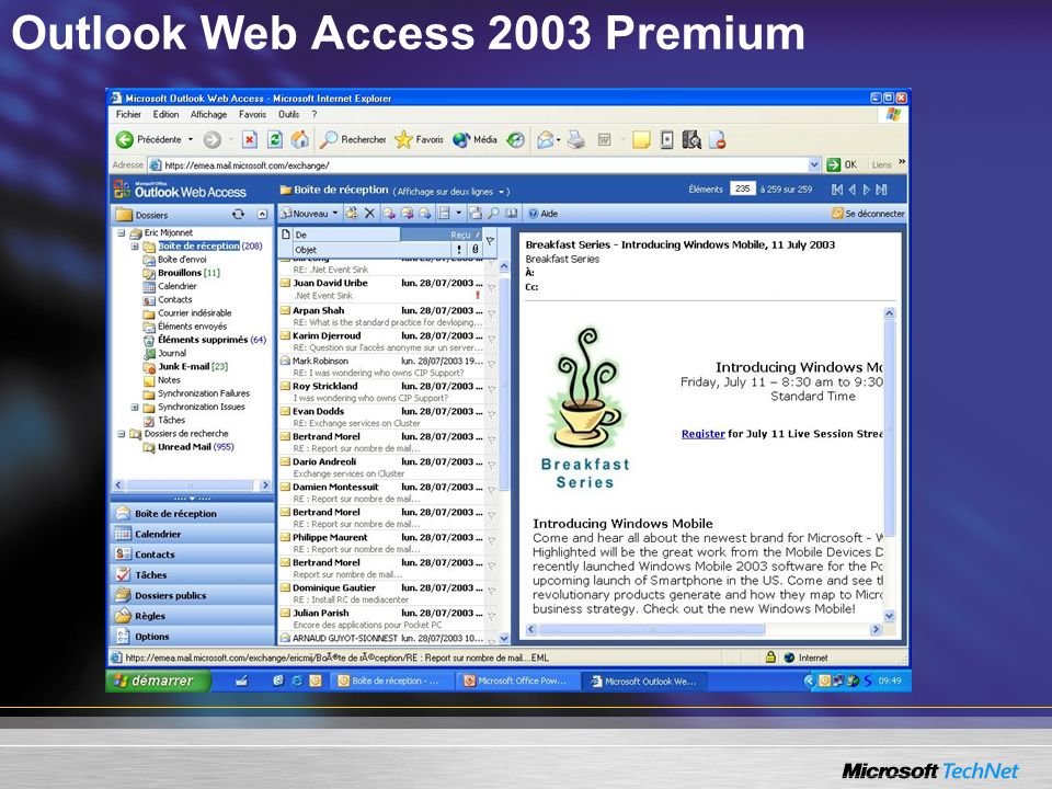 Outlook Web Access 2003 Premium