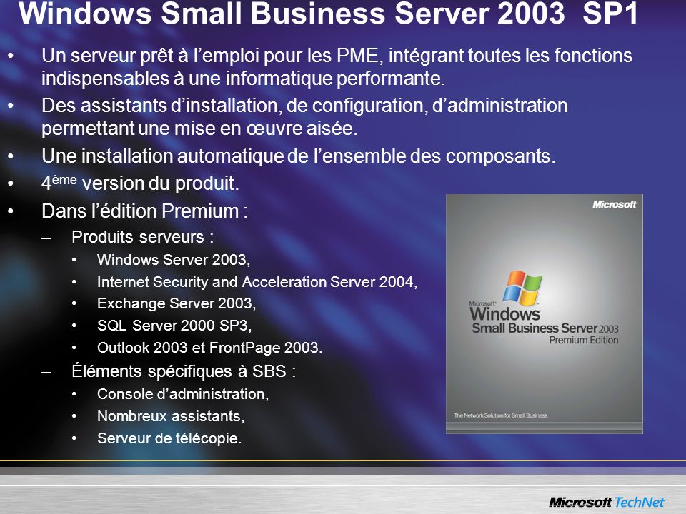 Windows Small Business Server 2003 SP1