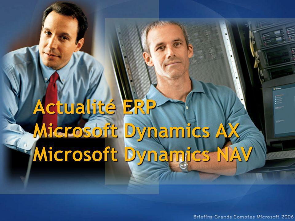Actualité ERP Microsoft Dynamics AX Microsoft Dynamics NAV