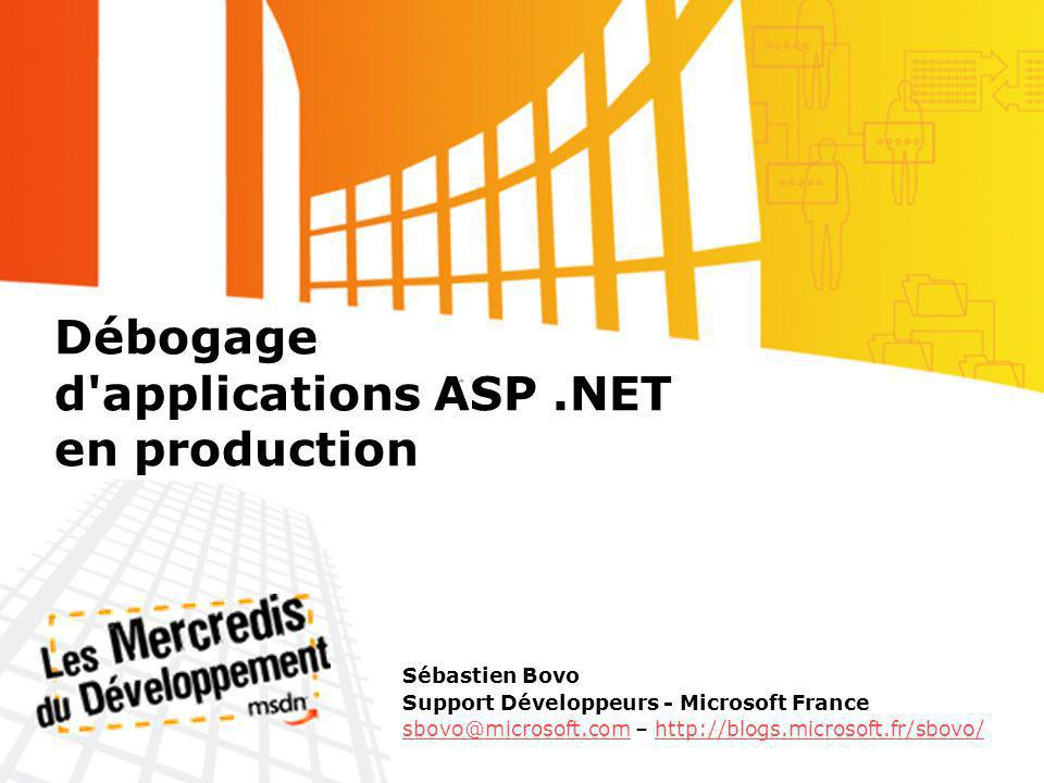 Débogage d applications ASP .NET en production