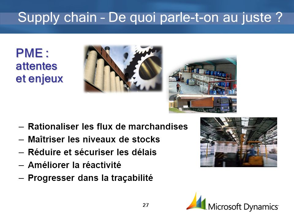 Supply chain – De quoi parle-t-on au juste