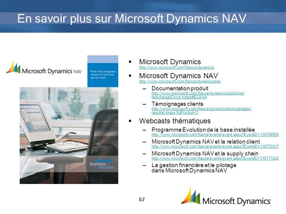 En savoir plus sur Microsoft Dynamics NAV