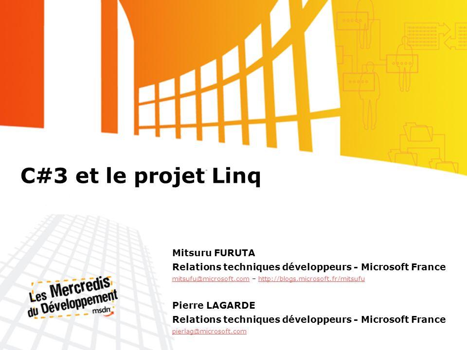 C#3 et le projet Linq Mitsuru FURUTA