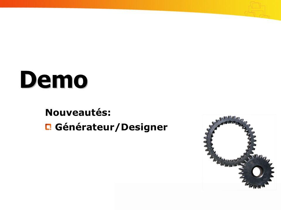 Nouveautés: Générateur/Designer