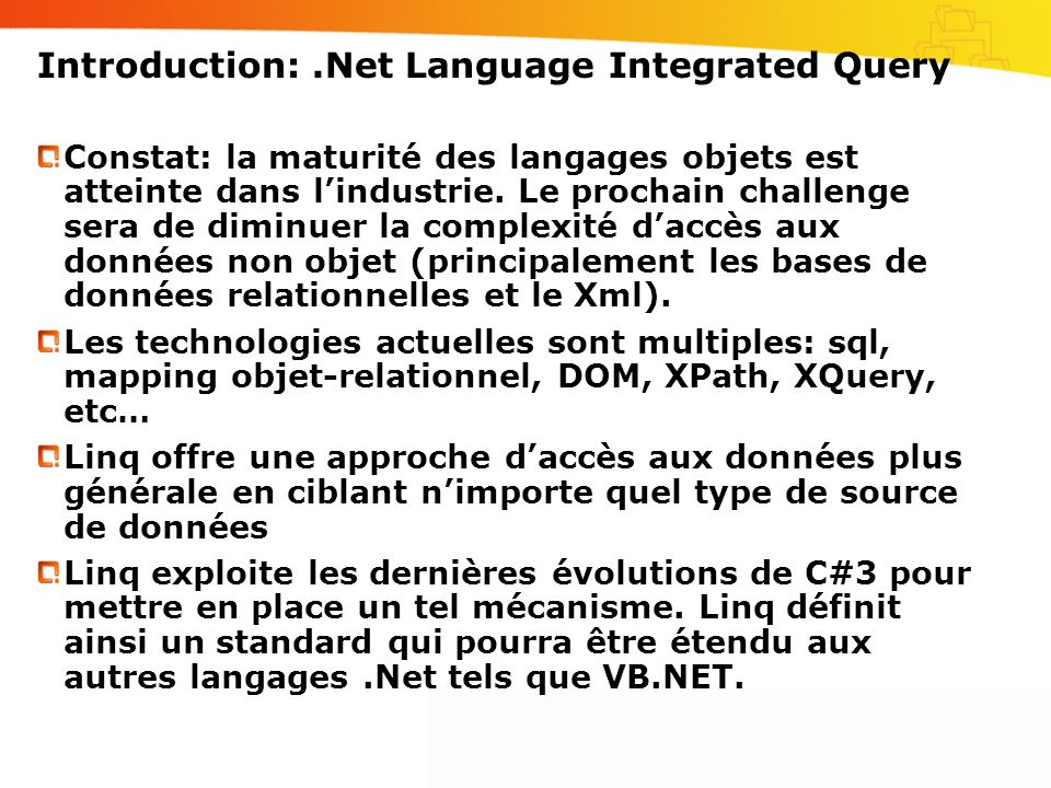 Introduction: .Net Language Integrated Query