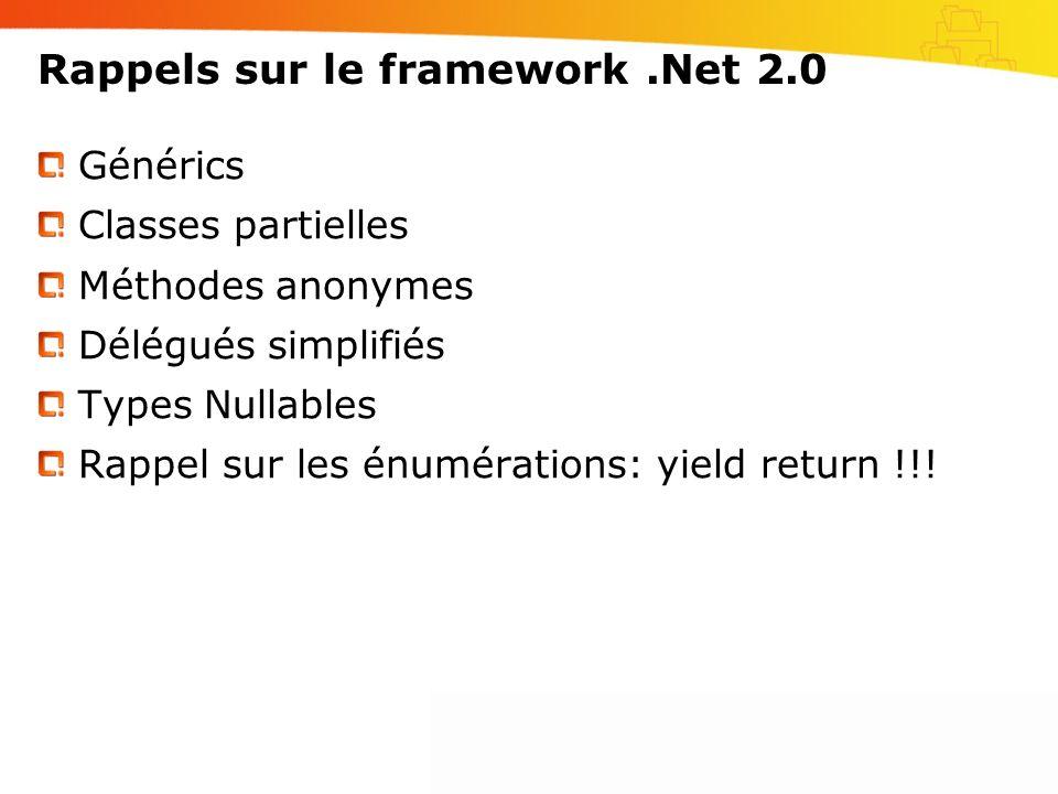Rappels sur le framework .Net 2.0