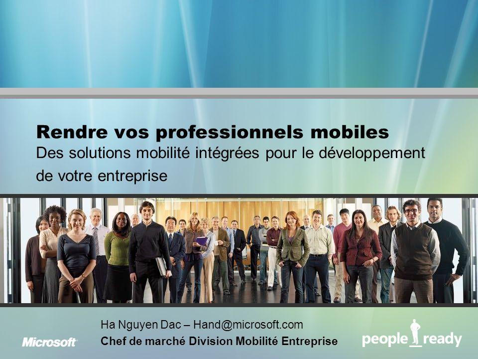 Rendre vos professionnels mobiles