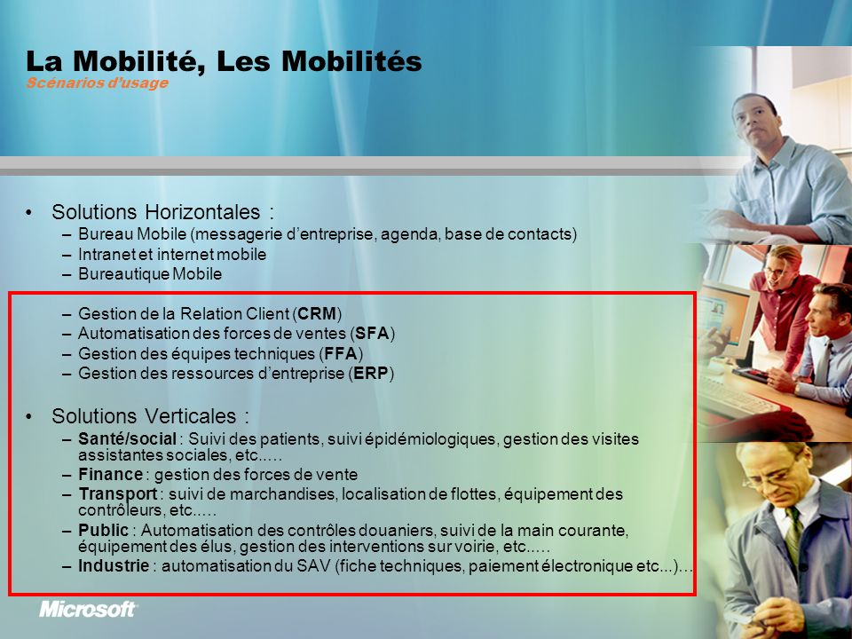 La Mobilité, Les Mobilités Scénarios d'usage
