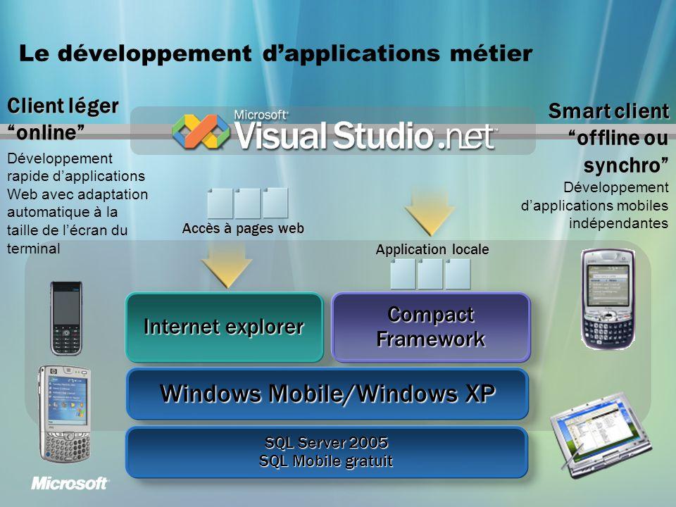 Le développement d'applications métier