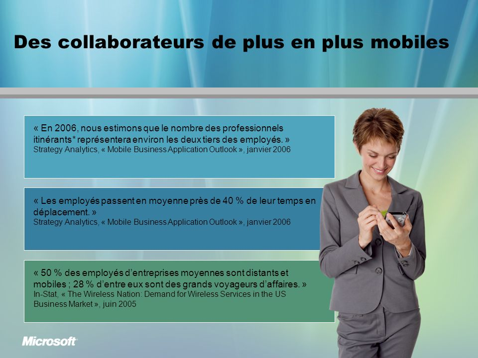 Des collaborateurs de plus en plus mobiles