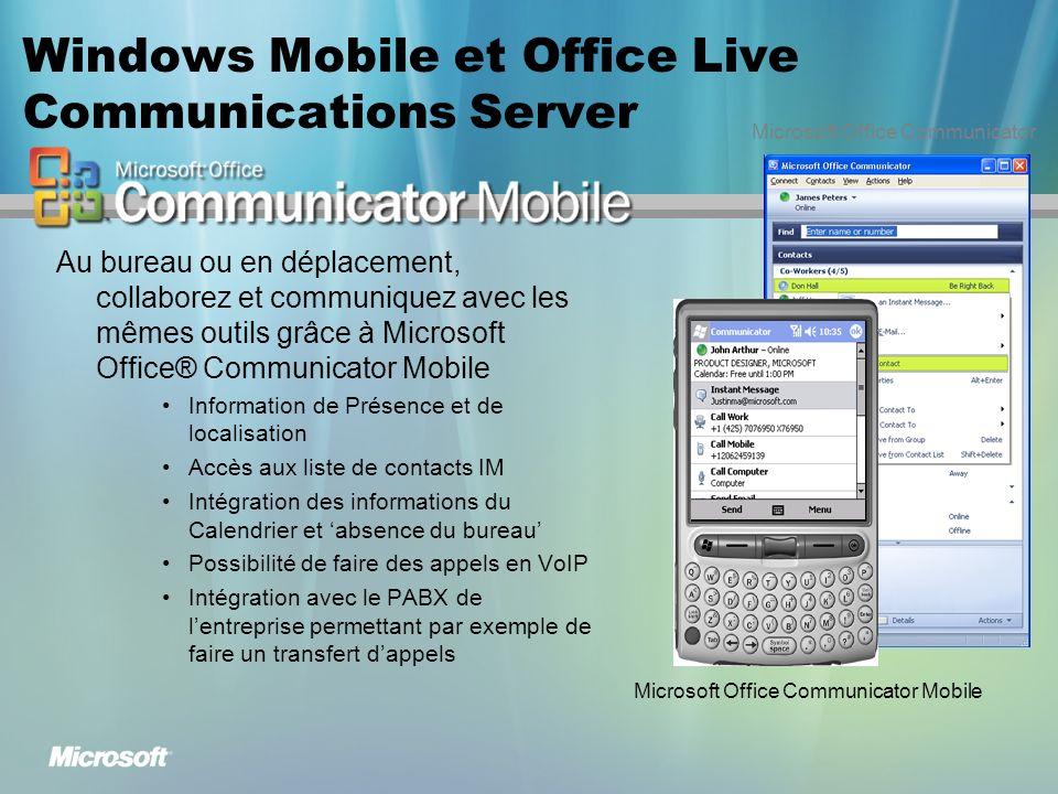 Windows Mobile et Office Live Communications Server