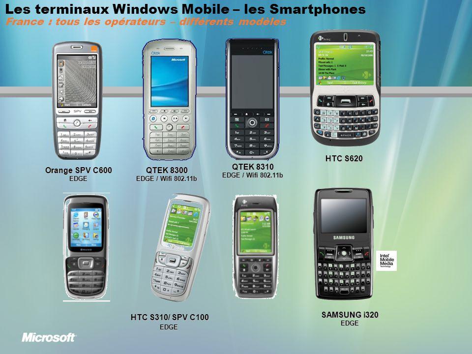 Les terminaux Windows Mobile – les Smartphones France : tous les opérateurs – différents modèles
