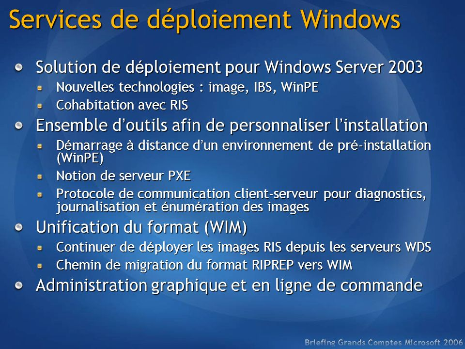 Services de déploiement Windows