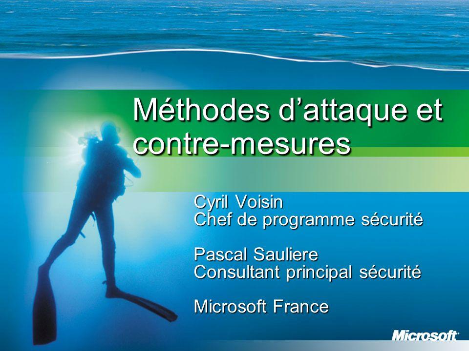 Méthodes d'attaque et contre-mesures