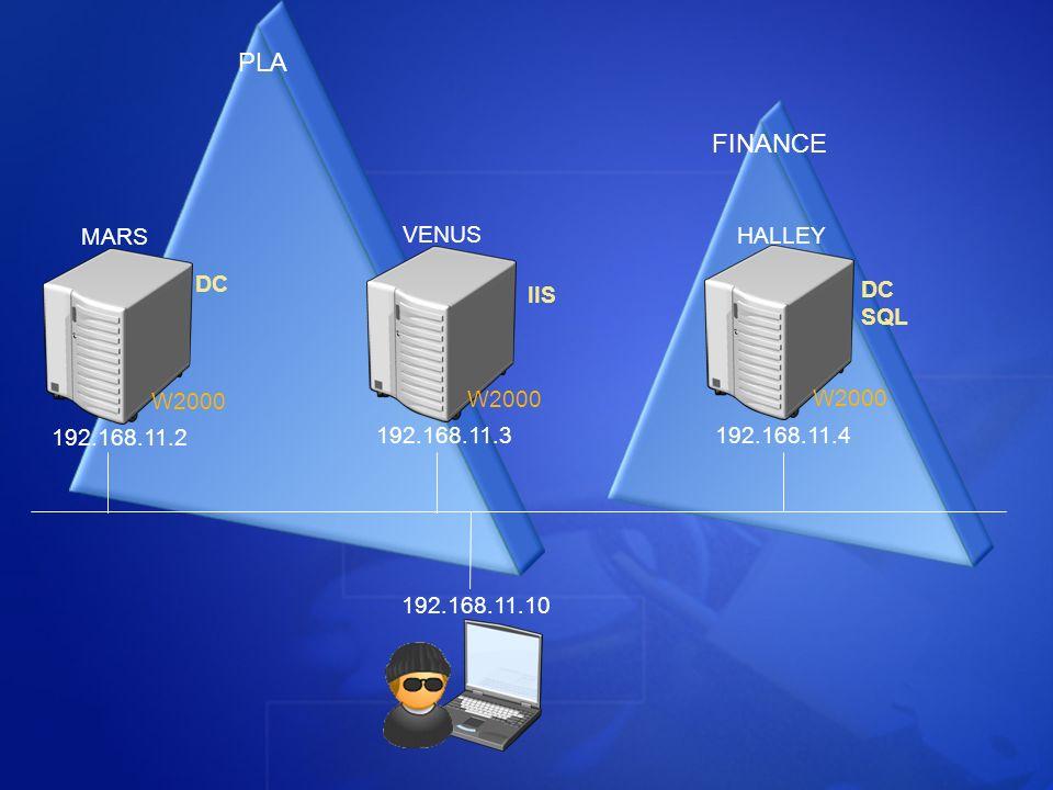 PLA FINANCE MARS VENUS HALLEY DC IIS DC SQL W2000 W2000 W2000