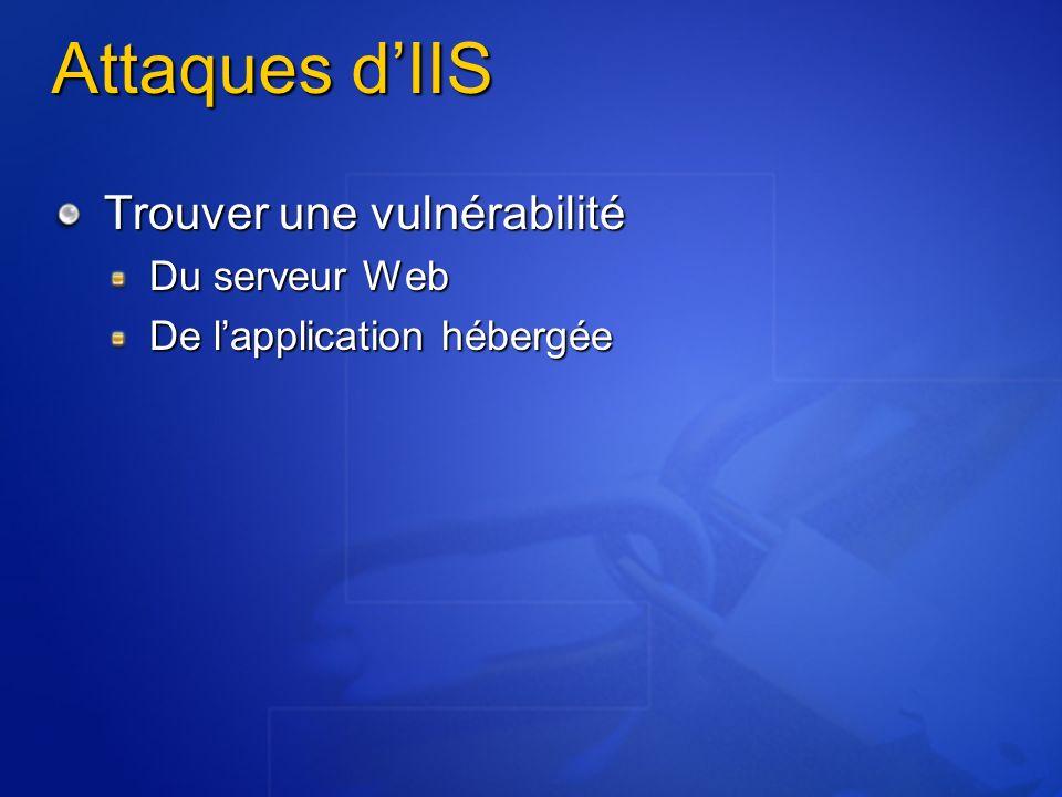 Attaques d'IIS Trouver une vulnérabilité Du serveur Web