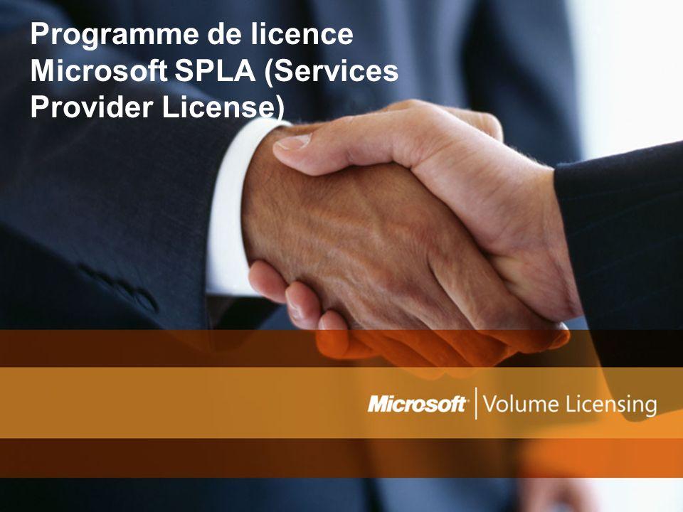 Programme de licence Microsoft SPLA (Services Provider License)