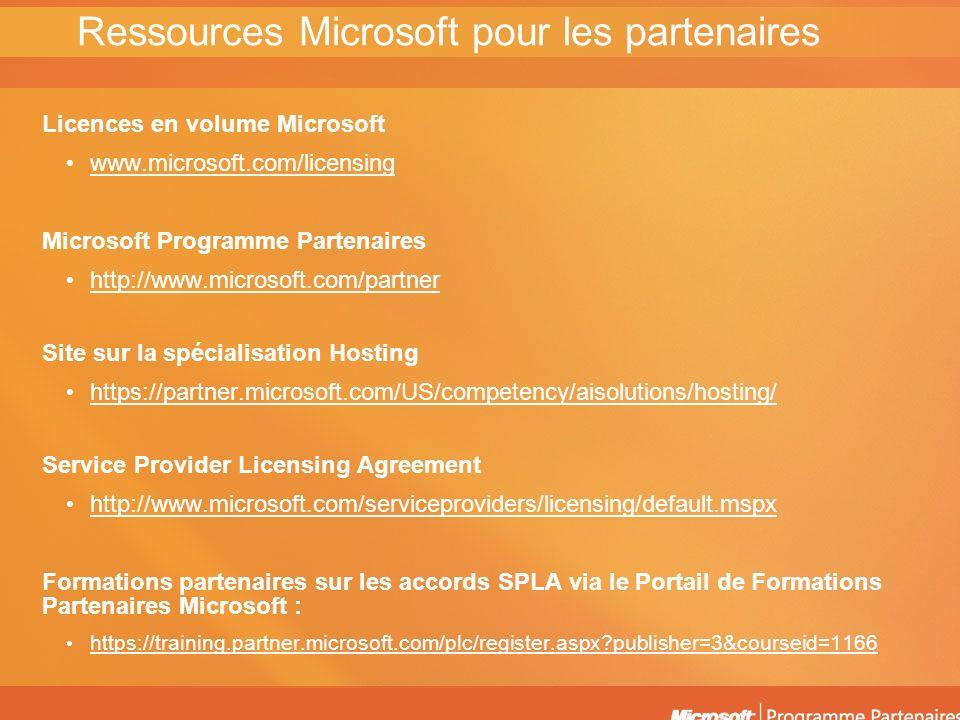 Ressources Microsoft pour les partenaires