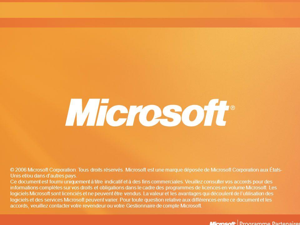© 2006 Microsoft Corporation. Tous droits réservés